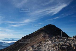 山頂近しの写真・画像素材[1042345]