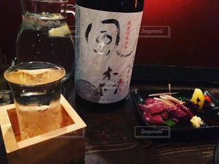 しっぽり日本酒タイムの写真・画像素材[1039868]