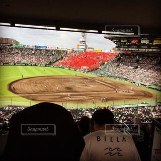 甲子園球場三塁側内野よりの眺めの写真・画像素材[1089082]