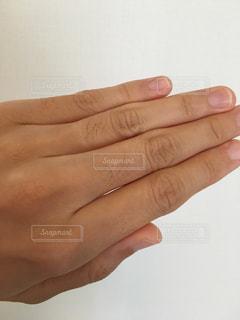 指のムダ毛の写真・画像素材[1126032]