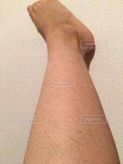 足のムダ毛の写真・画像素材[2068415]