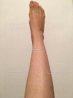 足のムダ毛の写真・画像素材[2068417]