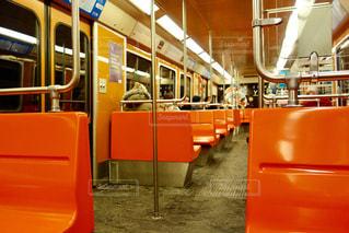 フィンランドの電車の車内の写真・画像素材[1041021]