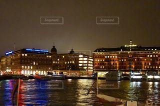 ストックホルムの夜景の写真・画像素材[1041052]