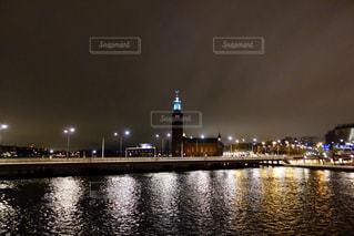 スウェーデンの夜明け前の写真・画像素材[1041070]