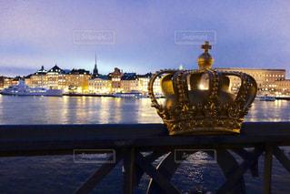 ストックホルムの橋の上からの景色の写真・画像素材[1041078]