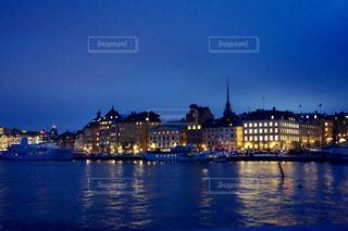 スウェーデン ストックホルムの夜景の写真・画像素材[1041084]