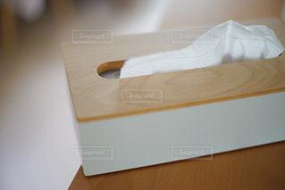 ティッシュボックスのアップの写真・画像素材[1207397]