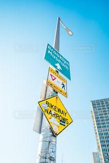 NYの標識の写真・画像素材[2166628]