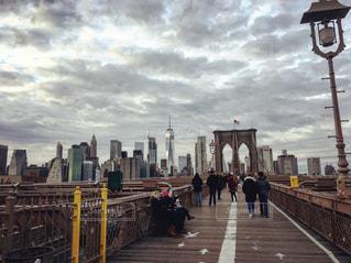 ブルックリンブリッジの写真・画像素材[1041125]