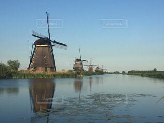 オランダの風車たちの写真・画像素材[1138167]