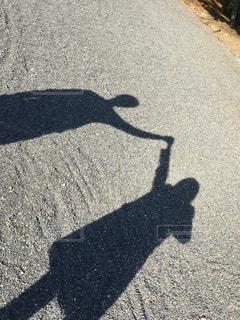 道の端にサインの写真・画像素材[1068956]