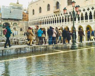 ヴェネチアのアクア・アルタの写真・画像素材[1041949]