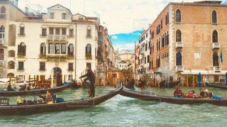 ヴェネチアとゴンドラの写真・画像素材[1041986]