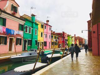 ヴェネチア ブラーノ島の写真・画像素材[1042085]