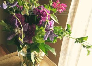 紫ムーンダストを使った花束の写真・画像素材[1042970]