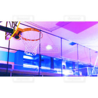 バスケットゴールの写真・画像素材[1048806]