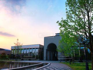 夕暮れの福岡市博物館の写真・画像素材[1168696]