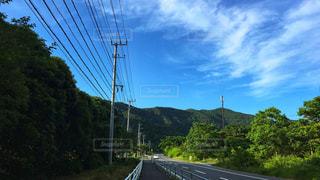 田舎の道路の写真・画像素材[1250511]