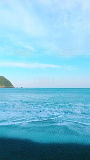 空、海、波、青の写真・画像素材[1291427]