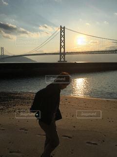明石海峡大橋 日の出の写真・画像素材[1045160]