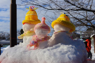 雪だるまの写真・画像素材[1042685]