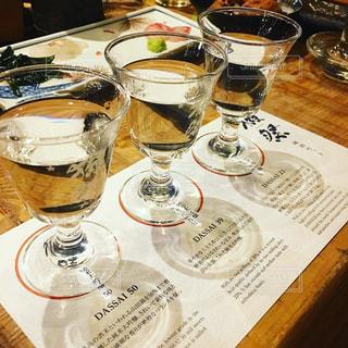 日本酒の獺祭飲み比べの写真・画像素材[1070736]