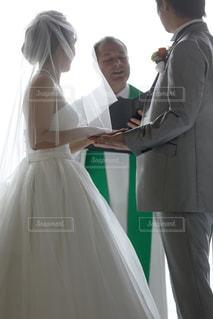 海外挙式 誓いの言葉の写真・画像素材[1043982]