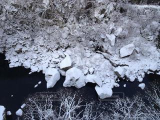 鬼怒川の冬景色の写真・画像素材[1048780]