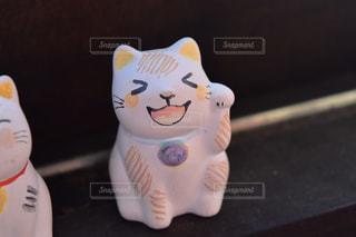 笑顔の招き猫の写真・画像素材[1108289]