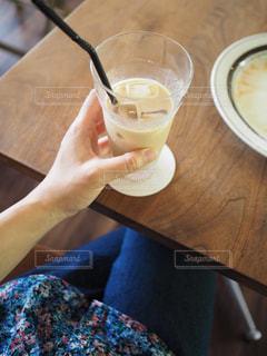 カフェでコーヒータイムの写真・画像素材[1074886]