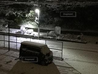 電柱のある風景 雪を添えて - No.1046742