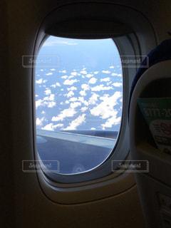 飛行機の窓から見た風景の写真・画像素材[1046758]