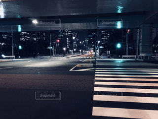 夜の空街の写真・画像素材[1044183]
