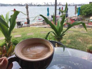ハワイのカフェでお茶の写真・画像素材[1044092]