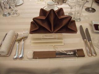 披露宴が始まるテーブルの写真・画像素材[1049083]