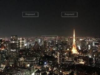 夜の街の景色の写真・画像素材[1214683]