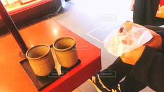 梅ヶ枝餅とお茶の写真・画像素材[1049523]