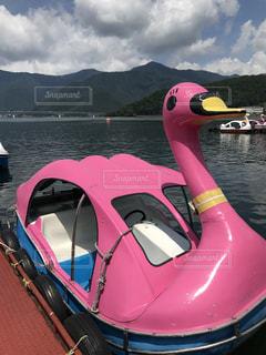 山中湖のスワンボートですの写真・画像素材[1046859]