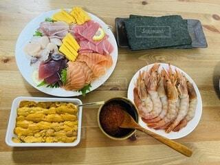 手巻き寿司ホームパーティーの写真・画像素材[3654726]