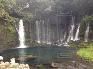 白糸の滝の写真・画像素材[1046430]