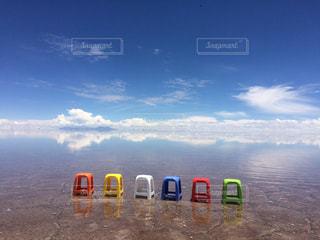 ウユニ塩湖の写真・画像素材[1050454]