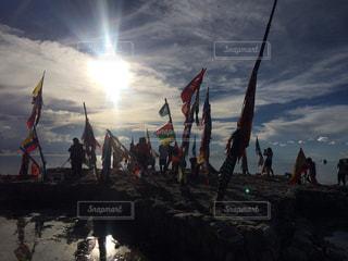 ウユニ塩湖の写真・画像素材[1050481]