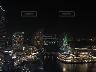 夜の横浜の景色の写真・画像素材[1050017]