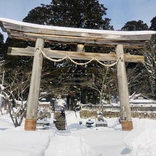 雪に閉ざされる戸隠神社 - No.1049197