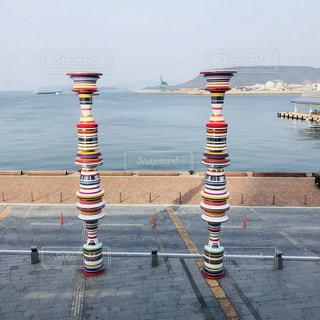 高松の港よりの写真・画像素材[1098428]