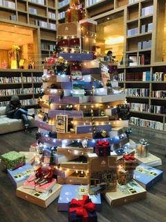 図書館カフェのクリスマス@台北の写真・画像素材[1598939]
