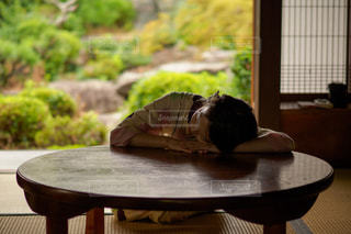 居眠りの写真・画像素材[1428050]
