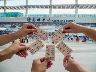 台湾の高雄駅で、チケットの集合写真の写真・画像素材[2484080]