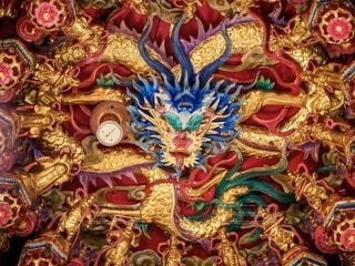 龍虎塔の龍の装飾の写真・画像素材[2495496]